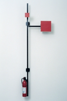 Richard Roth Selected Early Work paint, wood, steel, fire extinguisher