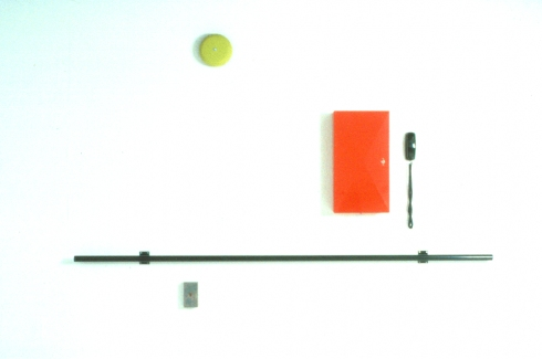 Richard Roth Selected Early Work paint, steel, cabinet, phone, alarm, smoke detector