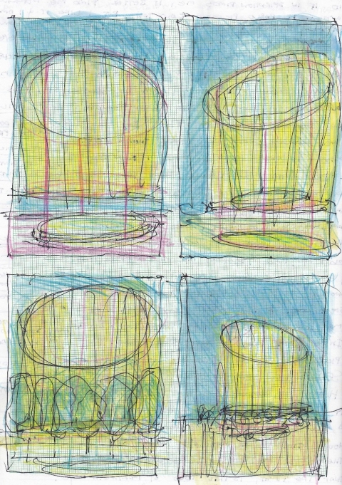 Sketches for a Memorial Garden #9661 Ellipse Iterations