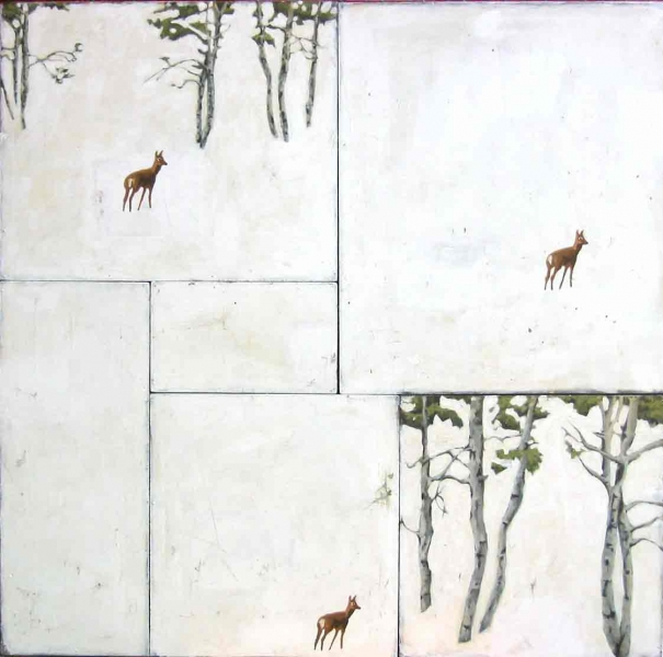 paintings untiled (3 deer)