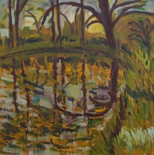 Rifka Milder                                                                                            Landscapes oil on canvas