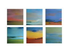 Rita Shapiro Multiple Panel Paintings Oil on 6 Panels