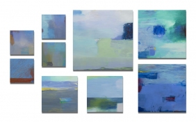 Rita Shapiro Multiple Panel Paintings Oil