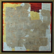 Rita Shapiro Gold Leaf Oil with Gold Leaf on Canvas