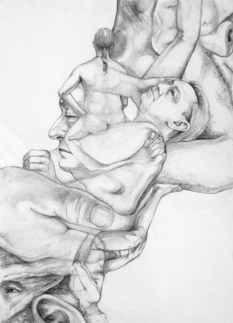 RACHEL MINDRUP Life Drawing Explorations Graphite on BFK