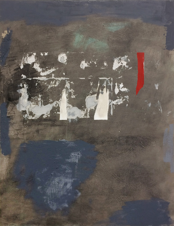 Recent Work Acrylic, spackle, traces of paper on wood