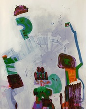 ROBERTA NIGRO HALL Lost But Not Forgotten Acrylic ,Marker on Paper