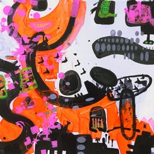 ROBERTA NIGRO HALL Snap Judgement ACRYLIC , PAINT MARKER on PAPER