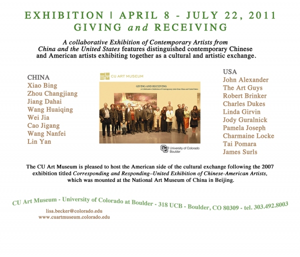 ROBERT BRINKER CU ART MUSEUM EXHIBITION