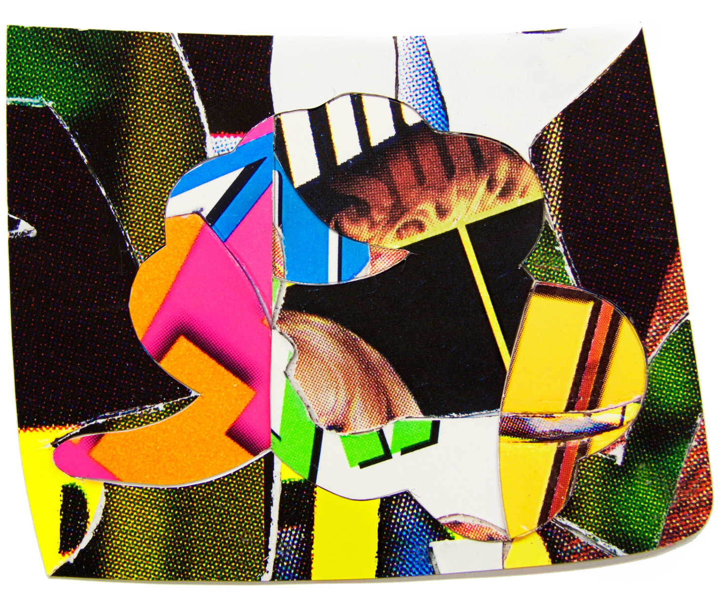 ROBERT BRINKER STUDIES Cut paper collage