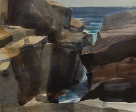 Robert Dorlac Acadia National Park Artist Residency watercolor