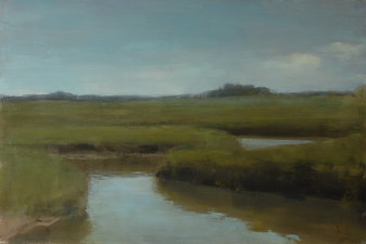 Robert Dorlac Prairie Ponds and Sloughs oil/panel