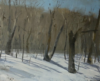 Robert Dorlac Winter Paintings oil/panel