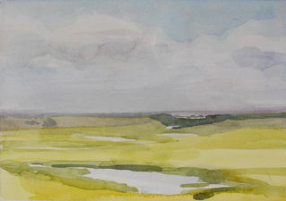 Robert Dorlac Prairie Ponds and Sloughs watercolor