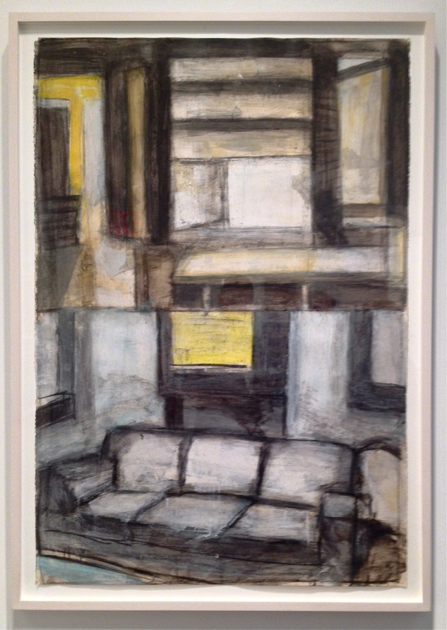 Robert G. Edelman        Art Consultant/Writer/Independent Curator     Interiors 90's Acrylic, charcoal and graphite on paper
