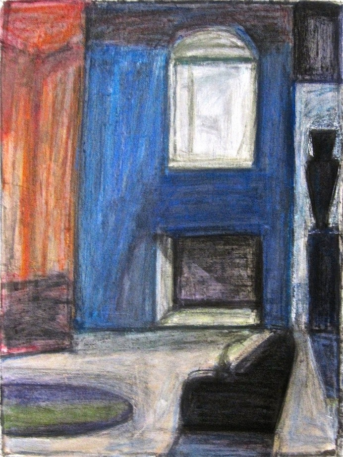 Robert G. Edelman        Art Consultant/Writer/Independent Curator     Interiors 90's Acrylic, pastel and graphite on paper