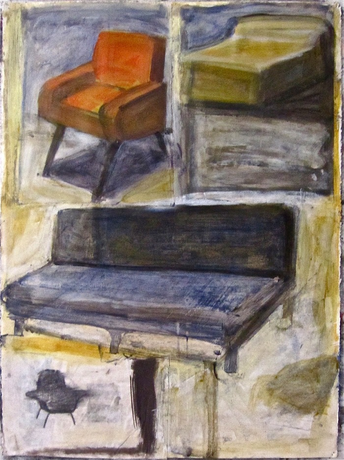 Robert G. Edelman        Art Consultant/Writer/Independent Curator     Interiors 90's Acrylic, graphite and collage on paper
