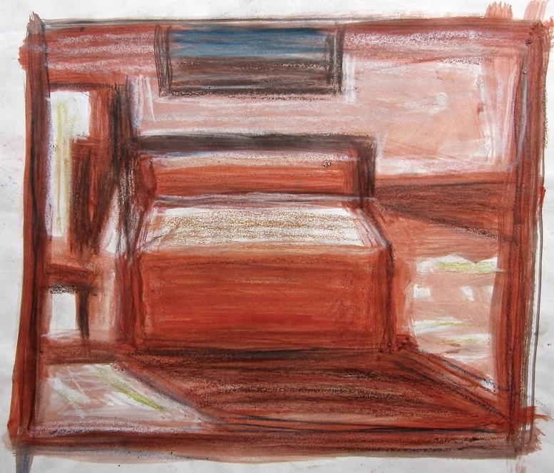 Robert G. Edelman        Art Consultant/Writer/Independent Curator     Interiors  charcoal, crayon, pastel on paper