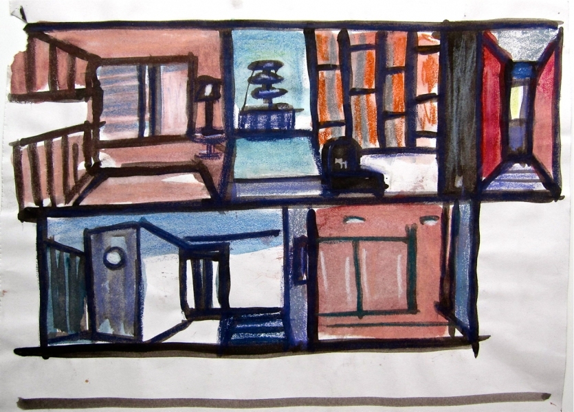 Robert G. Edelman        Art Consultant/Writer/Independent Curator     Interiors  ink, charcoal, watercolor, pastel on paper
