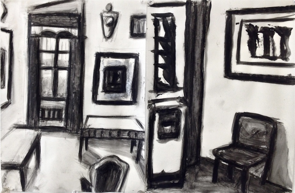 Robert G. Edelman        Art Consultant/Writer/Independent Curator     Interiors  Ink, tempera on vellum