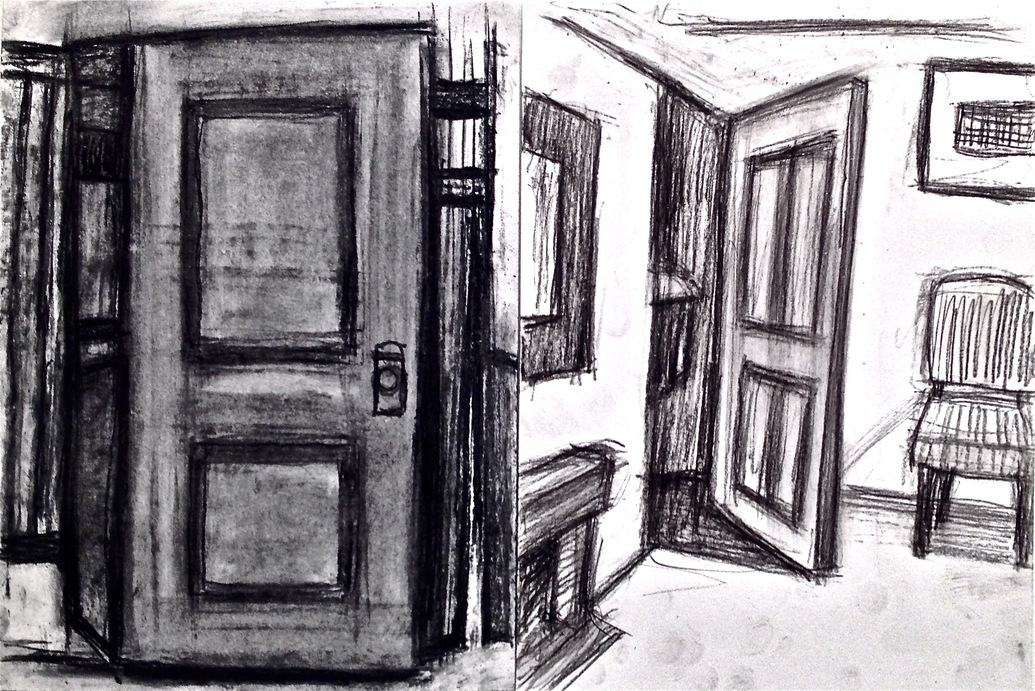 Robert G. Edelman        Art Consultant/Writer/Independent Curator     Interiors  oilstick, graphite and charcoal on paper