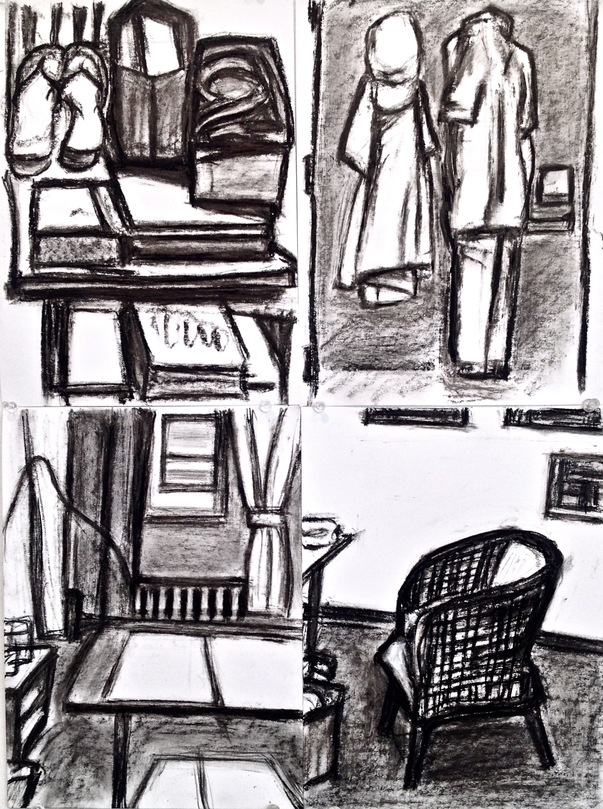 Robert G. Edelman        Art Consultant/Writer/Independent Curator     Interiors  oilstick, charcoal, graphite on paper