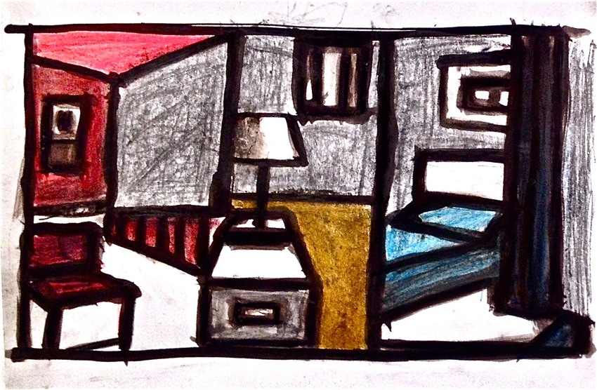 Robert G. Edelman        Art Consultant/Writer/Independent Curator     Interiors  Ink, oil pastel, charcoal, pencil on paper