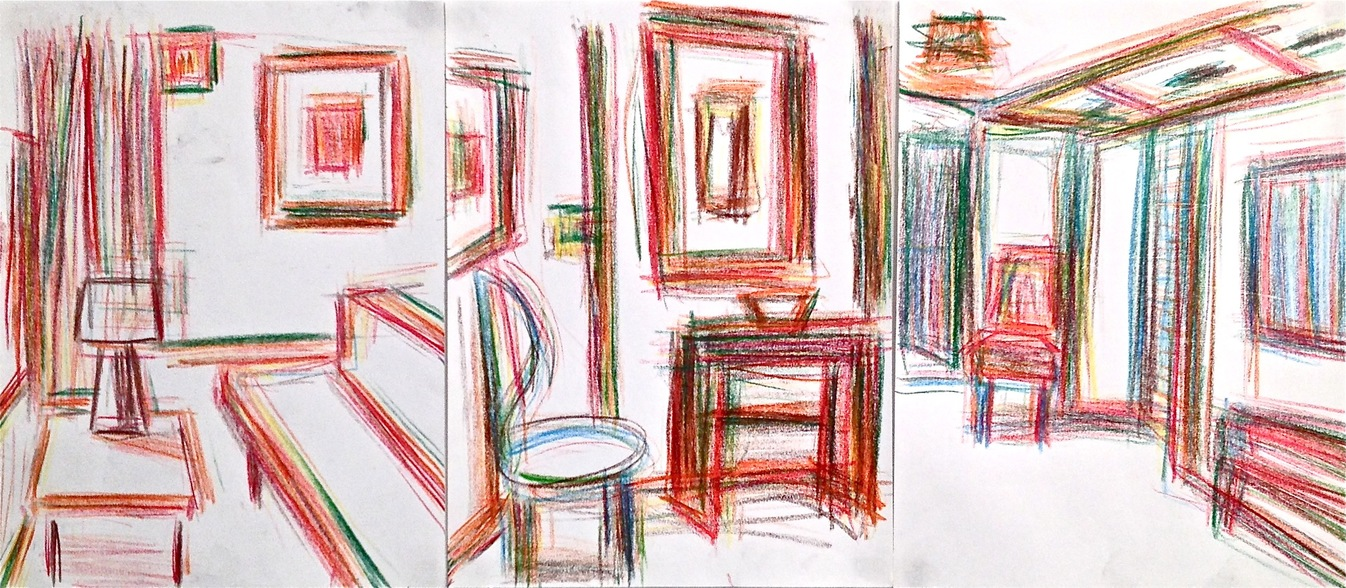Robert G. Edelman        Art Consultant/Writer/Independent Curator     Interiors  Colored pencil on paper