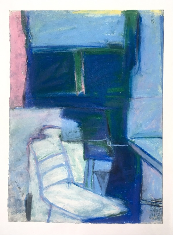 Robert G. Edelman        Art Consultant/Writer/Independent Curator     Interiors  Pastel, colored pencil on paper