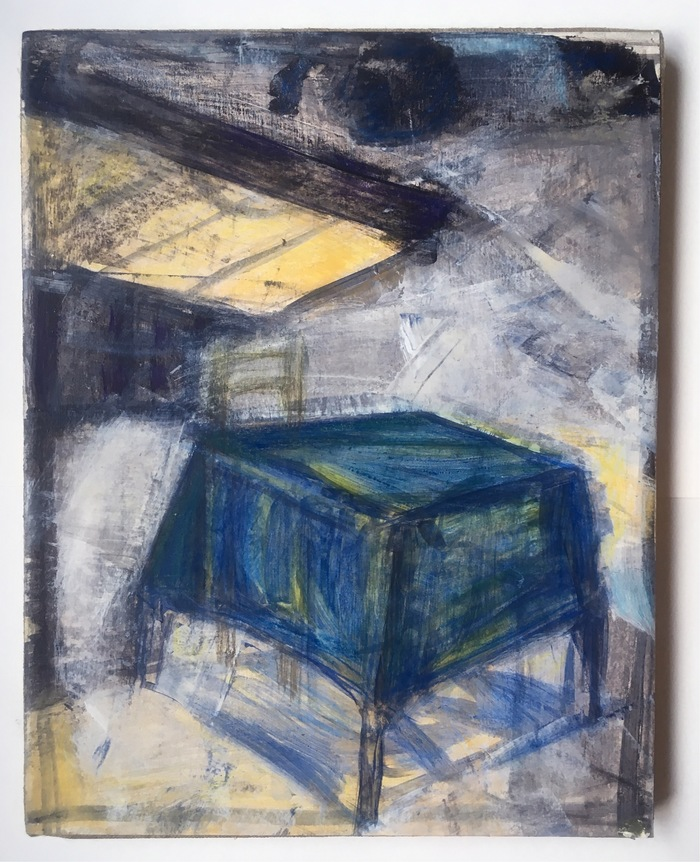 Robert G. Edelman        Art Consultant/Writer/Independent Curator     Interiors 90's Acrylic, pastel, mounted on linen