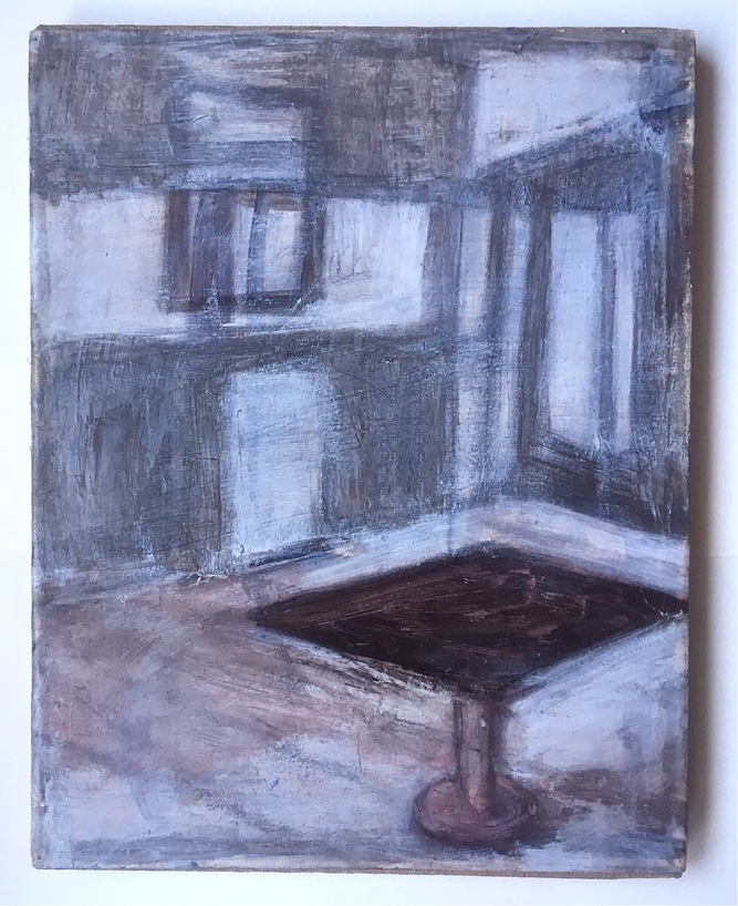 Robert G. Edelman        Art Consultant/Writer/Independent Curator     Interiors 90's Acrylic on paper