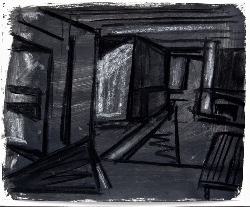 Robert G. Edelman        Art Consultant/Writer/Independent Curator     Interiors  Gouache, charcoal, pastel