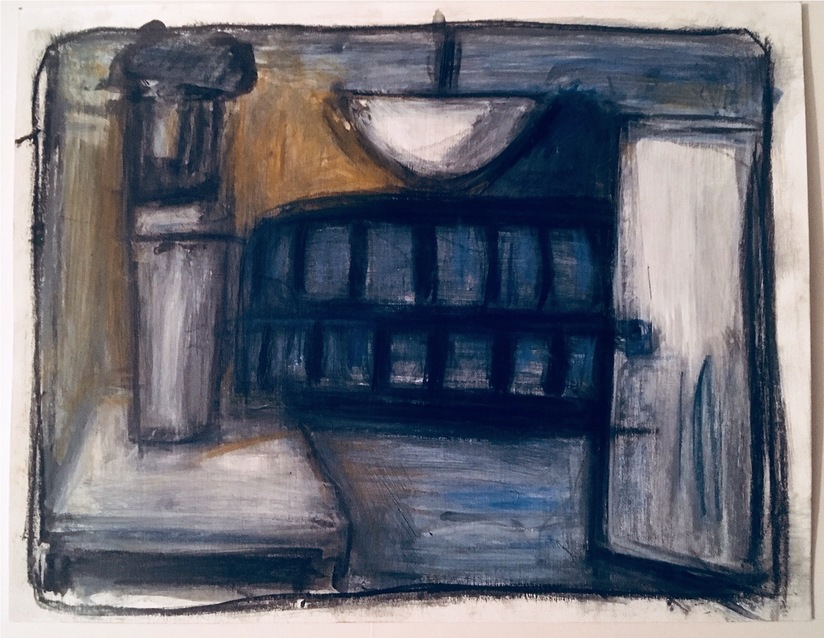 Robert G. Edelman        Art Consultant/Writer/Independent Curator     Interiors  Acrylic, pastel, pencil on paper