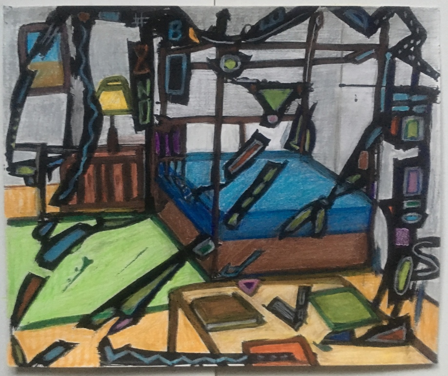 Robert G. Edelman        Art Consultant/Writer/Independent Curator     Interiors  Ink, charcoal, pastel, pencil on paper