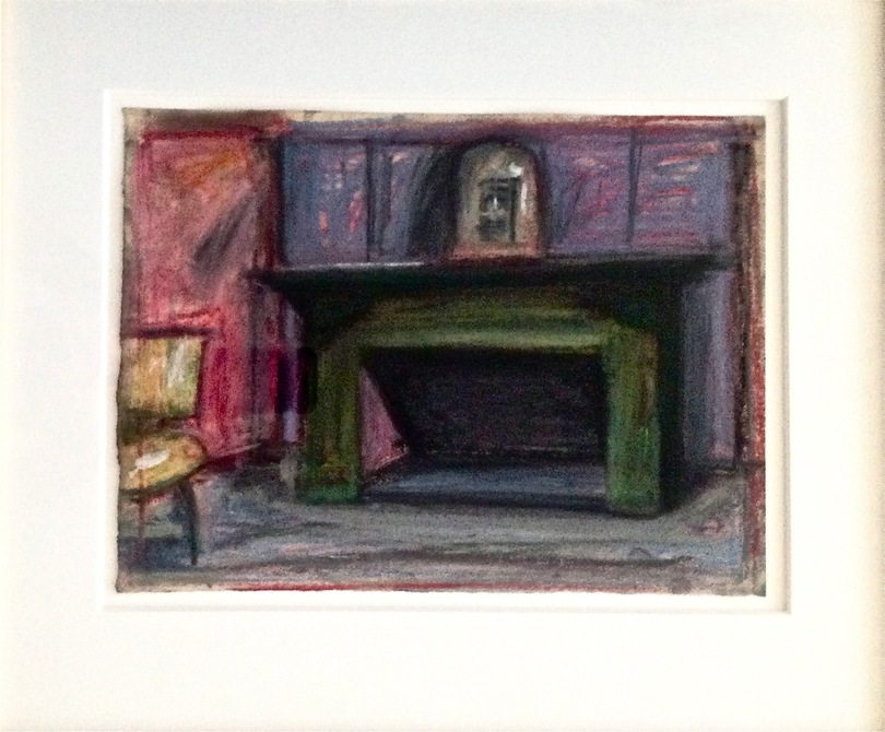 Robert G. Edelman        Art Consultant/Writer/Independent Curator     Interiors 90's Pastel. graphite on paper