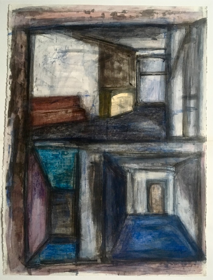 Robert G. Edelman        Art Consultant/Writer/Independent Curator     Interiors  Acrylic, pastel, charcoal on paper