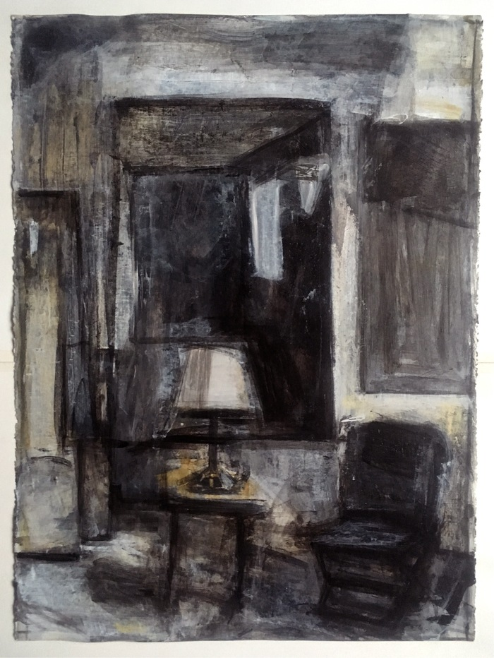 Robert G. Edelman        Art Consultant/Writer/Independent Curator     Interiors  Acrylic, charcoal, pastel on paper