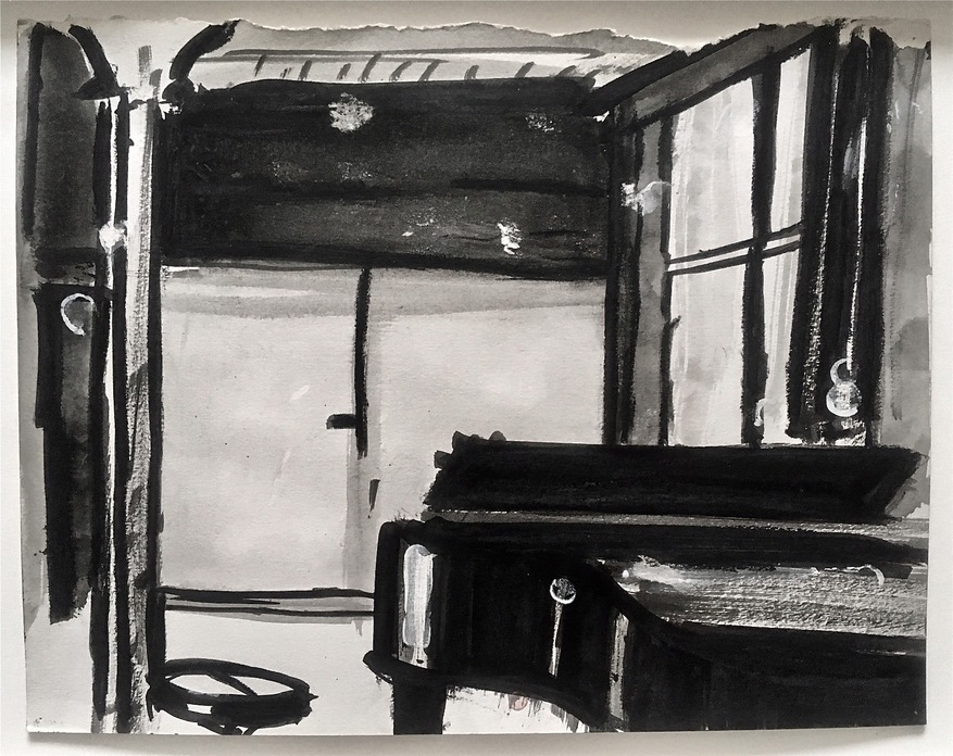 Robert G. Edelman        Art Consultant/Writer/Independent Curator     Interiors 90's Ink, acrylic on paper