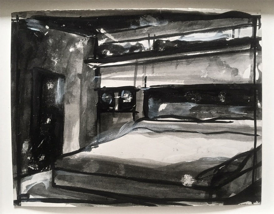 Robert G. Edelman        Art Consultant/Writer/Independent Curator     Interiors 90's Ink, acrylic, charcoal on paper