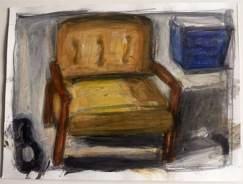 Robert G. Edelman        Art Consultant/Writer/Independent Curator     Interiors  acrylic, graphite on paper