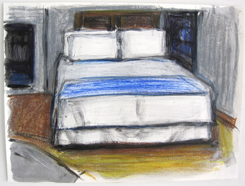 Robert G. Edelman        Art Consultant/Writer/Independent Curator     Interiors  acrylic, pastel and graphite on paper