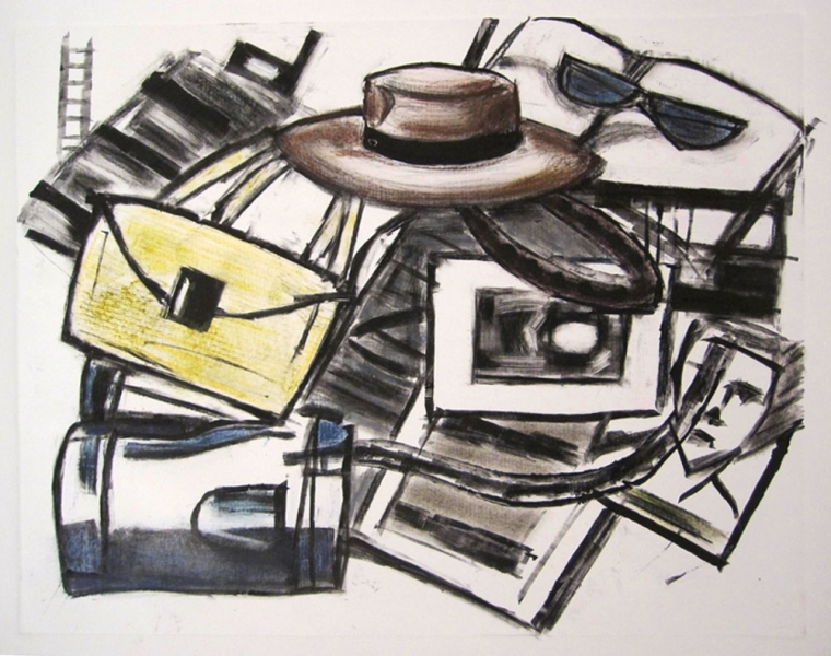 Robert G. Edelman        Art Consultant/Writer/Independent Curator     Prints Monoprint - printer's ink, oil pastel on paper