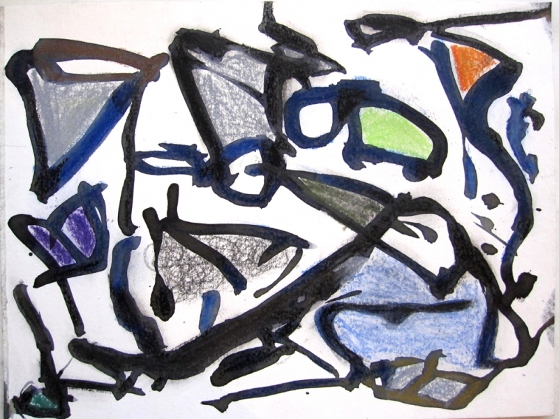 Robert G. Edelman        Art Consultant/Writer/Independent Curator     Works on paper ink, oil pastel on paper
