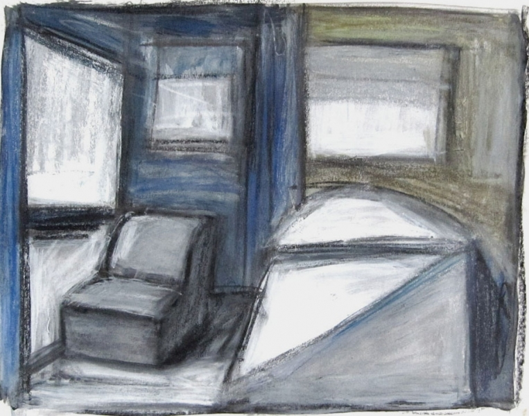 Robert G. Edelman        Art Consultant/Writer/Independent Curator     Interiors  acrylic, waterbased crayon, graphite on paper
