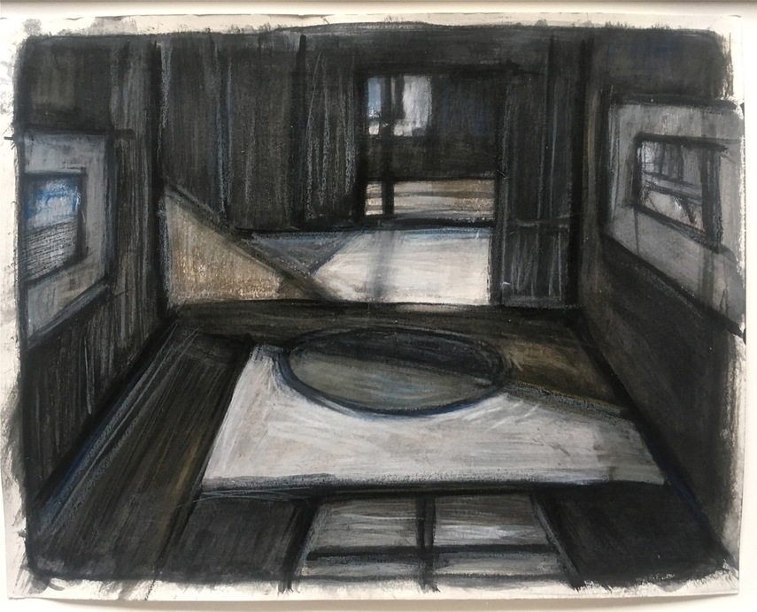 Robert G. Edelman        Art Consultant/Writer/Independent Curator     Interiors  acrylic, oil pastel, graphite on paper