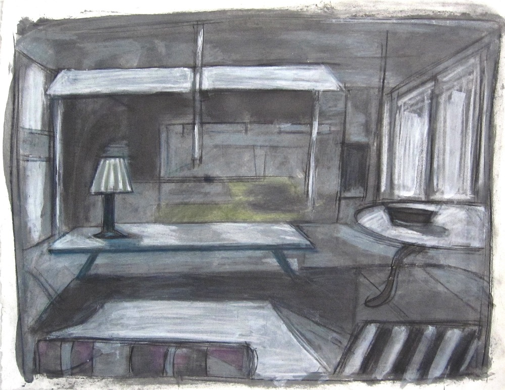 Robert G. Edelman        Art Consultant/Writer/Independent Curator     Interiors  Acrylic, charcoal, pastel and graphite on paper