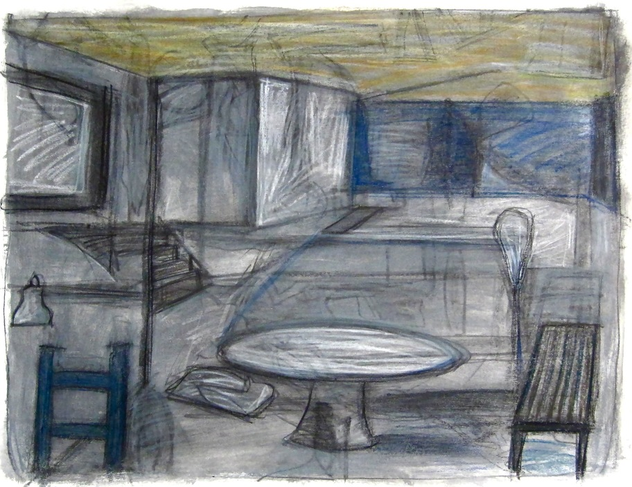 Robert G. Edelman        Art Consultant/Writer/Independent Curator     Interiors  Acrylic, charcoal, graphite and pastel on paper