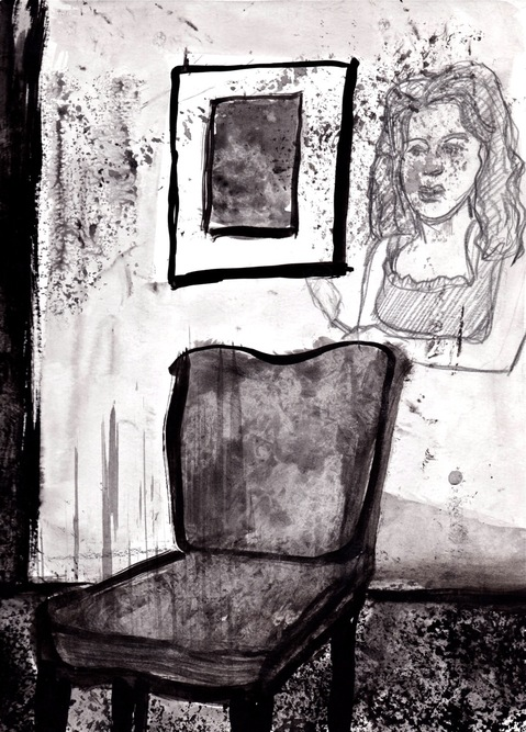 Robert G. Edelman        Art Consultant/Writer/Independent Curator     Interiors  ink, graphite on paper
