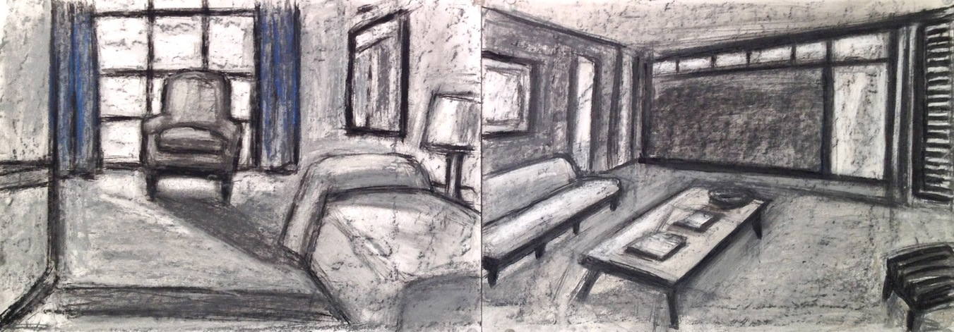 Robert G. Edelman        Art Consultant/Writer/Independent Curator     Interiors  Oilstick, charcoal, graphite and pastel on paper