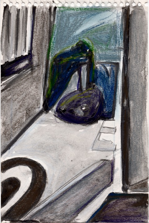 Robert G. Edelman        Art Consultant/Writer/Independent Curator     Interiors  Ink, charcoal. pastel on paper